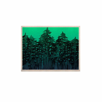 "Ebi Emporium ""Forest Through The Trees 9"" Purple Black KESS Naturals Canvas (Frame not Included)"