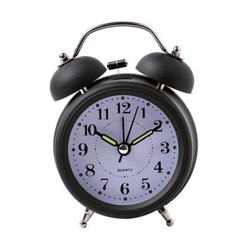 Classical Double Bell Silent No Ticking Desk Alarm Clock