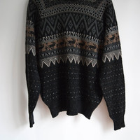 Tribal Animal Print Sweater for Men and Women by Kennington Size Large