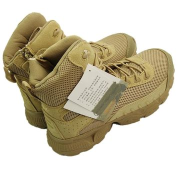 Airsoft Military Combat Mesh Boots  - Breathable Leather & Tactical Hunting Boots
