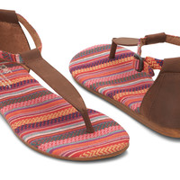 BROWN LEATHER WOVEN PLAYA SANDALS