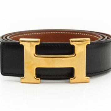 hermes belt, men hermes belt, women hermes belt, belt, belt hermes, belts for men, belts for women, Leather belt, men belt, mens belt, women belt,HERMES Constance H Buckle Belt Leather Brown Black Gold-tone Authentic