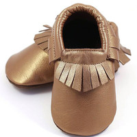 ELK Bronze Fringe Leather Booties | zulily