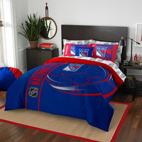 New York Rangers NHL Full Comforter Bed in a Bag (Soft & Cozy) (76in x 86in)