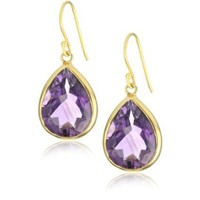 "Wendy Mink ""Rajasthan"" Pear Amethyst Set Earrings"