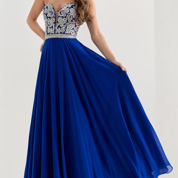 Jasz Long Sweetheart Prom Dress JZ-5748