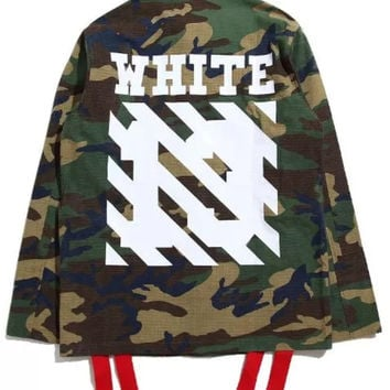 Off White '13' Camo Jacket