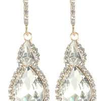 Gorgeous rhinestone fashion earrings  MME24543gdcl