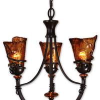 Uttermost Vitalia 3Lt Oil Rubbed Bronze Chandelier - 21226