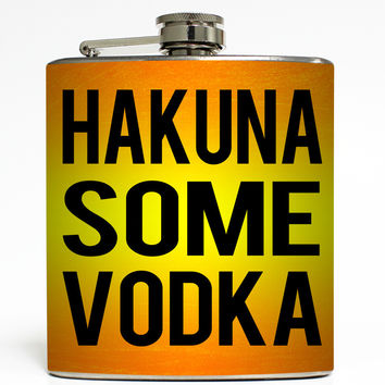 Hakuna Some Vodka - Funny Lion King Flask