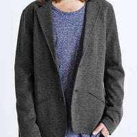 Your Neighbors Double Knit Blazer- Grey