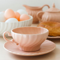 Franciscan Coronado Matte Finish Dinnerware, Serving Bowl, Creamer and Sugar, Teacup and Saucer, Bread and Butter Plate, Coral and White