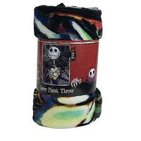 Licensed Official New Nightmare Before Christmas Jack Super Soft Micro Raschel Large Throw Blanket