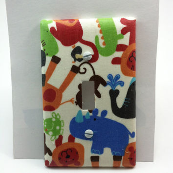 Jungle Animal Print Light Switch Cover