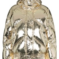 Metallic Foil Puffer Jacket by IENKI IENKI