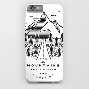 The mountains are calling and I must go- Nordic iPhone & iPod Case by Lostfog Co↟