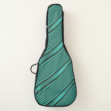 Teal Waves Guitar Case
