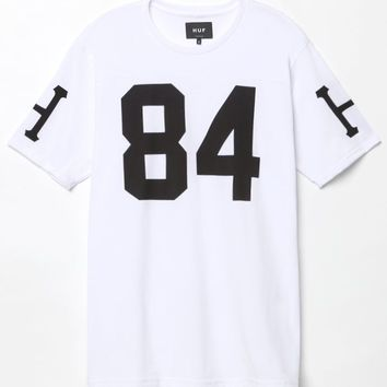 HUF 84 Football Jersey - Mens Tee - White