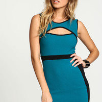 Mod Outlined Cut Out Dress