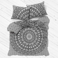 Urban Boho Duvet Cover Set Extra Large Indian Bedding with 2 pillows - Mohini