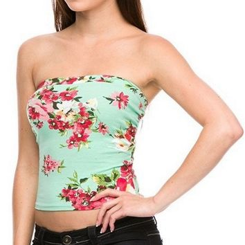 Floral Print Bandeau - Final Sale!