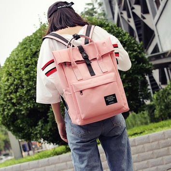 Fashion backpack women external USB charge hasp portable  travel student bags backpack