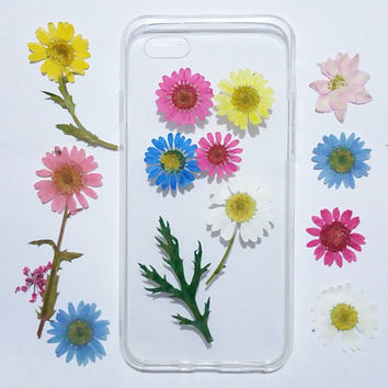 pressed flower iPhone 6s plus Case, iPhone 6s Case Clear, floral iPhone 6 Case, iPhone 6 Case, iPhone 6 Plus Case, tpu iphone case,