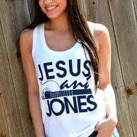 Jesus and Jones Tank Top - White