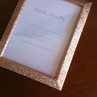 Gold Sparkling Glitter Picture Frame | Holiday Decor Gold Duct Tape Covered Picture Frame