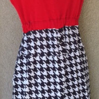 Upcycled Alabama houndstooth gameday dress