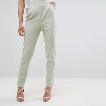 ASOS TALL High Waist Tapered Pants at asos.com