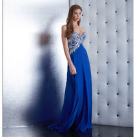 Jasz Couture 5429 Royal Blue Strapless Beaded Sweetheart Gown Prom 2015