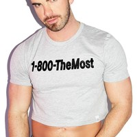 1-800 The Most Crop Tee- Grey