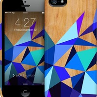 Wooden Geo Blue iPhone by House of Jennifer | Nuvango