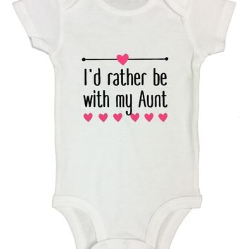 I'd Rather Be With My Aunt FUNNY KIDS Onesuit