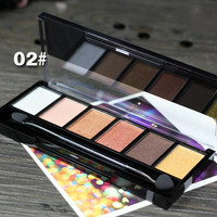#02 New Makeup Palette Natural Eye Makeup Light 6 Colors Eye Shadow Makeup Shimmer Matte Eyeshadow Palette Set by Sugar Box