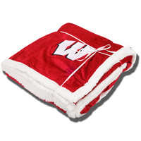 Logo Chair Sherpa Blanket (Red) | University Book Store