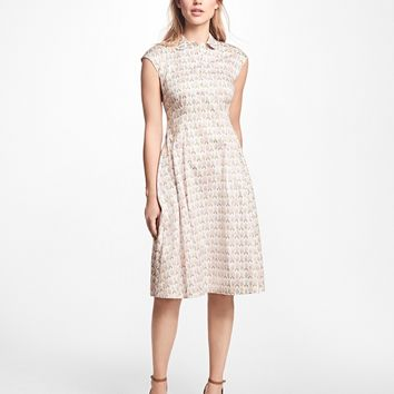 Floral Cotton-Sateen Shirt Dress - Brooks Brothers