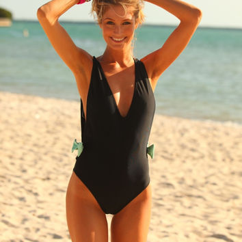 Black Strappy Swimsuit