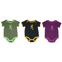 Browning Baby Grasshopper Short Sleeve Bodysuit