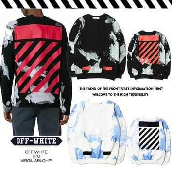 OFF WHITE Pullover Stripes Hoodies [11501029004]