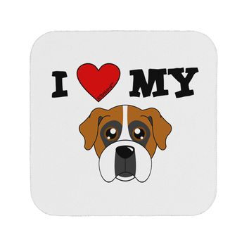 I Heart My - Cute Boxer Dog Coaster by TooLoud