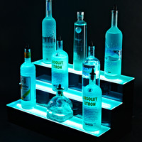 7 foot 3 Tier LED Liquor shelves Display