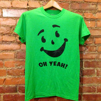 Kool Aid Face Oh Yeah Green Apple T-shirt Unisex Green/Multiple Colors available