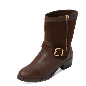 Charles by Charles David Women's Janelle Suede & Leather Boot - Brown