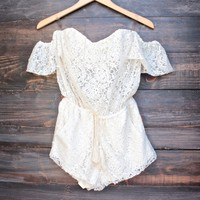strapless off the shoulder bohemian romper