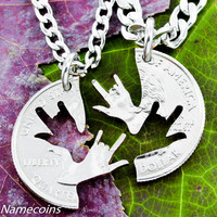 Best Friends ASL Necklaces