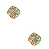 Rhinestoned Square Earrings