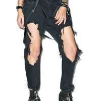 One Teaspoon Fox Black Lonely Boy Jeans | Dolls Kill