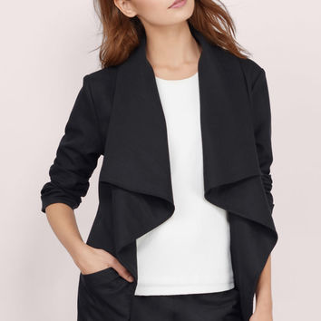 All Around Town Draped Jacket